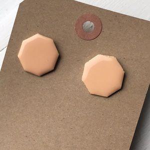 peach geometric minimalist vintage earrings
